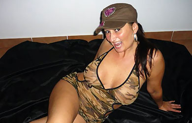 Mature Kate in her favorite army outfit, which turns on many guys fantasies!